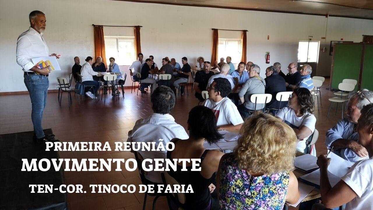 Reportagem: Primeira Reunião do Movimento Político do Ten-Cor Pedro Tinoco de Faria