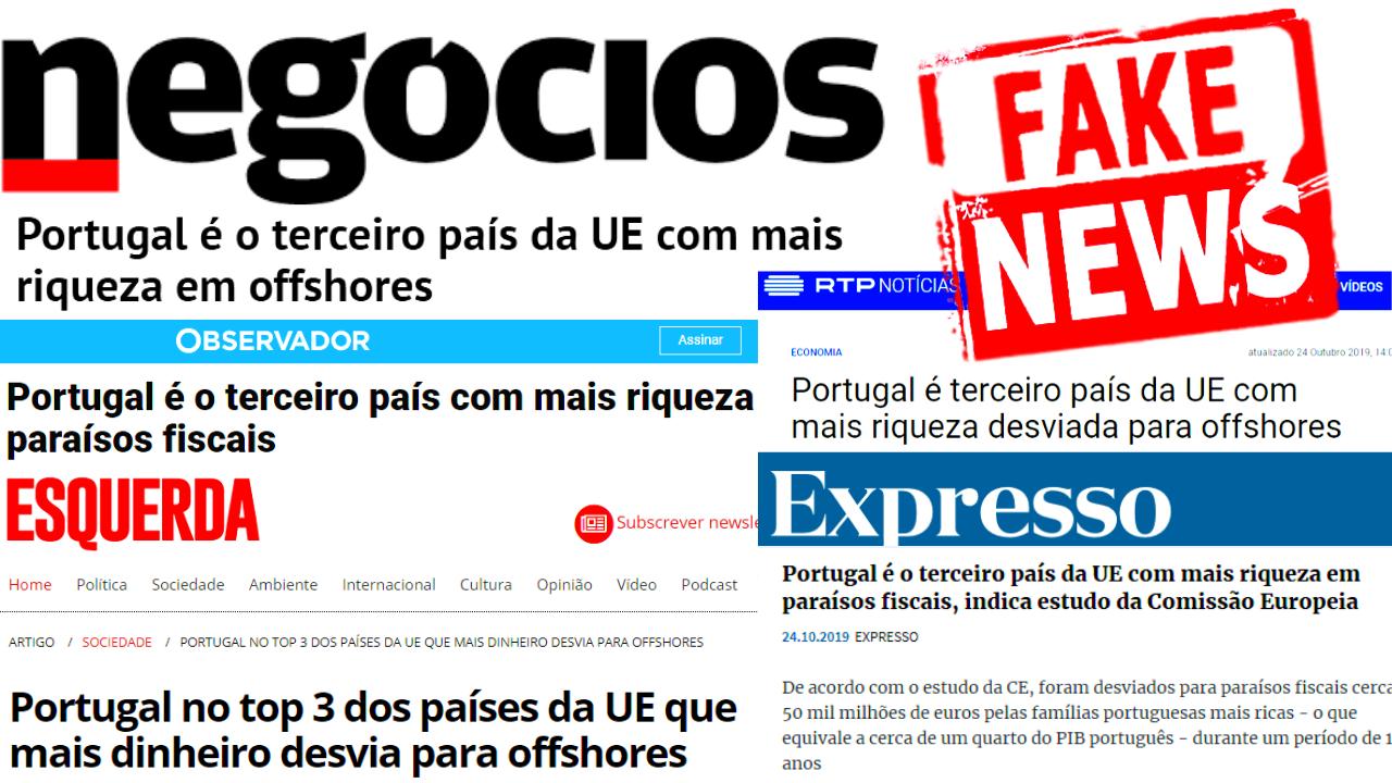 """""""Fake News"""" do Jornal de Negócios Partilhada Pela Comunicação Social Dominante"""