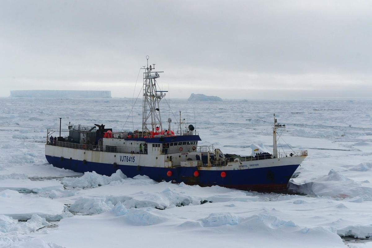 """Navio com """"Guerreiros"""" Contra as Alterações Climáticas Encalhados no Gelo"""