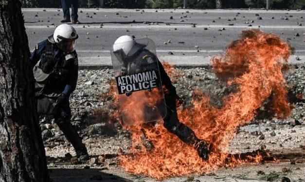 Dezenas de Feridos em Protestos na Grécia Contra Novos Campos de Migrantes