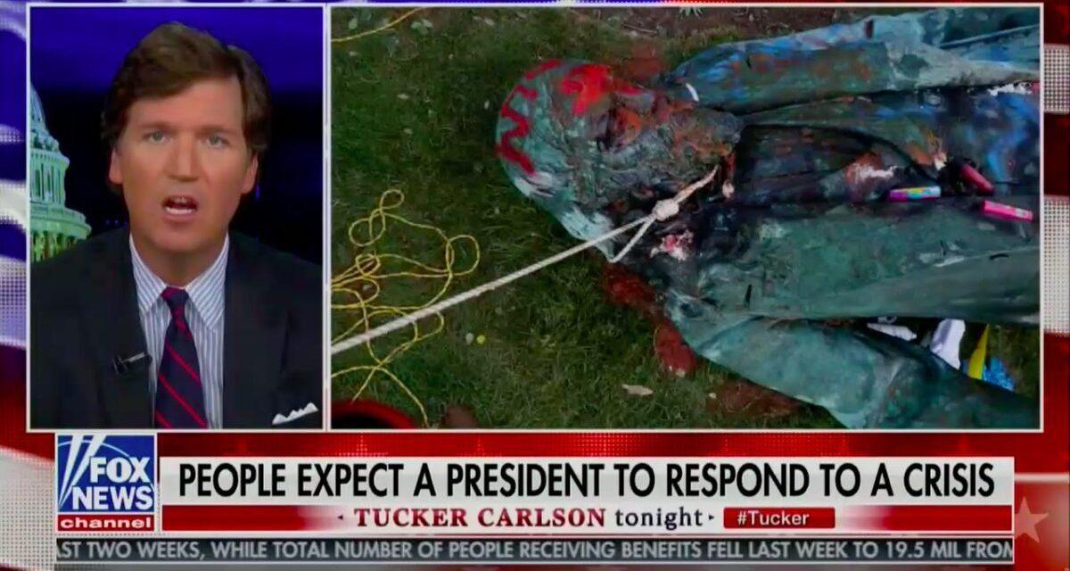 Tucker Carlson: A Verdadeira Razão das Multidões Destruírem Monumentos Americanos